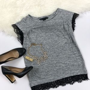 Marc by Marc Jacobs Carmen Linen And Lace Top
